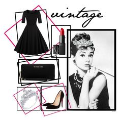 """""""vintage"""" by theteress ❤ liked on Polyvore featuring NARS Cosmetics, MICHAEL Michael Kors, Kate Marie, Christian Louboutin and vintage"""