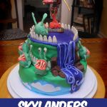 Highlights from the Skylander's Birthday Party: the Cake
