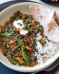 Green-Lentil Curry Recipe on Food & Wine