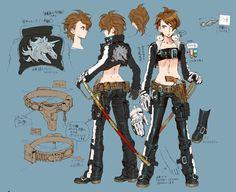 西村キヌさんデザインのオリジナルキャラクターである「アスマ・クロエ」(左)と「アカネ・クロエ」(右)