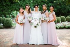 Jim Hjelm Occasions Lavender, Pink Bridesmaid Dresses