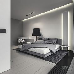 q-house interior design by Mateusz Kuo Stolarski, via Behance