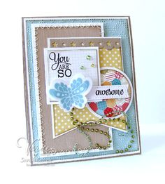 Mojo 300! You are so awesome! by Sarah.Jane - Cards and Paper Crafts at Splitcoaststampers