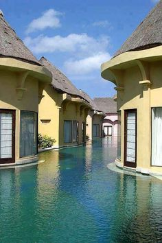 Seminyak villas and Spa in Bali, Indonesia - stayed in one of these and just slipped out of the door into the pool every day!