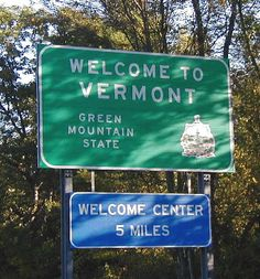 Vermont is the Green Mountain State The Places Youll Go, Great Places, Places To See, Beautiful Places, Vermont, New England States, Sign Image, Mountain States, Green Mountain
