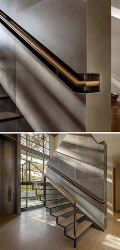 Встроенные поручни лестниц