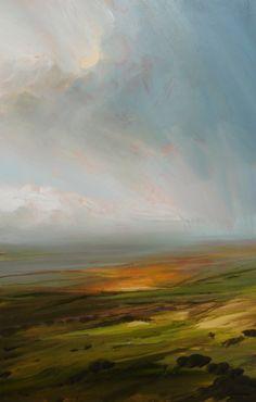 nuages / campagne / champs / paysage / plaines / couleur