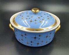 Vintage 1950's Hall Lidded Casserole Dish by Mod8FurnitureMarket