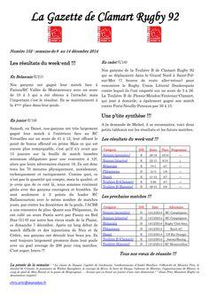 Gazette - 2014-2015 - Fédérale 2 - N° 152