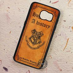 A History Leather Book Cover Hogwarts - Samsung Galaxy S7 S6 S5 Note 7 Cases & Covers