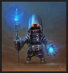 sephirothart, art, dark, fantasy, warrior, knight, mage, crystal