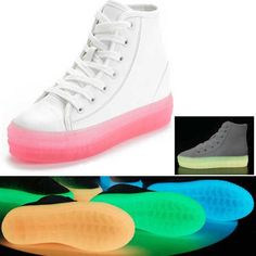 Ghete Fosforescente Roz ShoeFever.eu Unisex, Converse, Sneakers, Shoes, Fashion, Tennis Sneakers, Sneaker, Zapatos, Moda