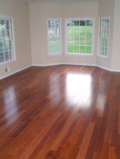 Solid Santos Mahogany (Red Cabreuva) hardwood flooring. New Jersey
