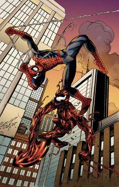 Mark Bagley, Man Vs, Venom, Detailed Image, Spiderman, Comic Books, Marvel, Deviantart, Superhero