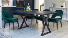 Complete your decor with a Danetti modern dining table. Our range includes a long dining table and glass kitchen table. Shop for your perfect dinner table here. 6 Seater Dining Table, Oak Dining Table, Modern Dining Table, Table And Chairs, Room Chairs, Green Dining Room, Blue Velvet Dining Chairs, Blue Chairs, Accent Chairs