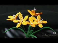 DIY Spring Blooming Flowers Macramé Tutorial - YouTube Macrame Toran Designs, Macrame Design, Spring Blooming Flowers, Spring Blooms, Macrame Owl, Micro Macramé, Macrame Plant Hangers, Macrame Earrings, Macrame Projects