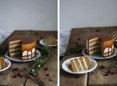 Děvče u plotny - Dýňový dort seskořicovým krémem akaramelem