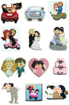 Check out these fantastic wedding cookies!! They make me want to get married again!!
