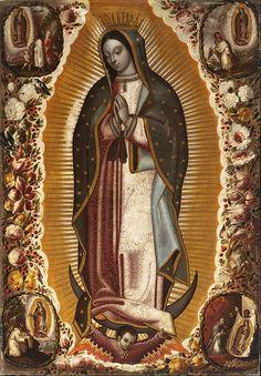 Manuel de Arellano - Virgin of Guadalupe (Virgen de Guadalupe) - Google Art Project.