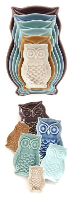 Owl stacking plates #product_design