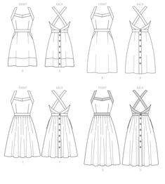 McCall's Misses' Dresses Sewing Pattern - Size or Diy Clothing, Sewing Clothes, Clothing Patterns, Dress Patterns, Coat Patterns, Manga Clothes, Sewing Coat, Skirt Sewing, Doll Clothes