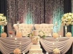 Crystal Backdrop Bling Bling Rias Designs Inc. Black and White Chic 416-901-2343