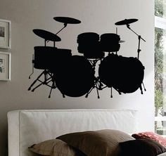 Check out this item in my Etsy shop https://www.etsy.com/listing/169519760/drum-set-wall-mural-decal-sticker-music