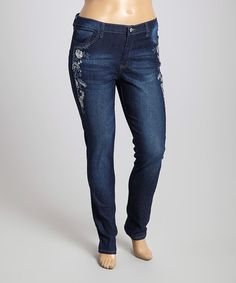 Another great find on #zulily! Dark Indigo Skinny Jeans - Plus by be-girl #zulilyfinds