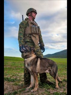 Military War K9 & Handler - God Bless & Protect both of you Heroes!