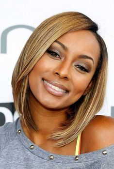 Keri Hilson's Great Shoulder Length Quick Hair Perfect for Girls with Round Faces Awesome and Charming Asymmetric Bob Hair
