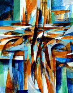 Untitled Acrylic on canvas. Painting by Harry Wedzinga
