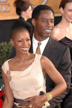 Beautiful Black Couples — Isaiah Washington and wife