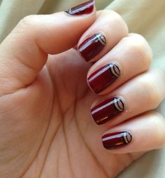 Deco moon nail art, thanks to Formula X in Curiosity, Dark Matter, + Evocative. #Sephora