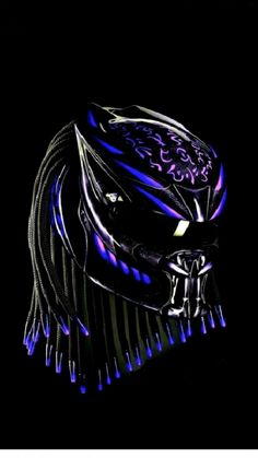 Motorcycle Helmet, Parts & Accessories - Predator Helmet Custom Street Fighter Style - ? Skull Motorcycle Helmet, Custom Motorcycle Helmets, Custom Helmets, Women Motorcycle, Skull Helmet, Street Fighter, Futuristic Helmet, Predator Helmet, Counting Cars