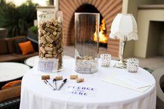 An Australian couple hosts an art deco inspired Westin Lake Las Vegas Wedding. Cork Wedding, Wedding Guest Book, Rustic Wedding, My Perfect Wedding, Dream Wedding, Lake Las Vegas, Wedding Isles, Las Vegas Weddings, Second Weddings