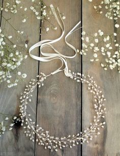 Babys Breath This beautiful headpiece has been crafted out of silver plated wire and is adorned with an array of sparkling Swarovski crystal Bridal Crown, Bridal Tiara, Bridal Headpieces, Boho Headpiece, Wedding Headdress, Indian Wedding Bride, Boho Bride, Turkish Wedding, Indian Weddings