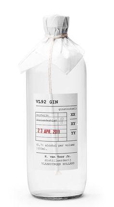gin bottle packaging