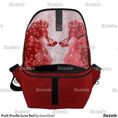 Shop Posh Poodle Love Red Messenger Bag created by LeonOziel. Dog Jewelry, Hat Shop, Red Barns, Trim Color, Pet Accessories, Poodle, Messenger Bag, Purses, Bags
