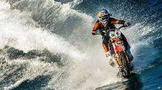 Australian stunt biker Robbie Maddison - Surfing on a motorbike!