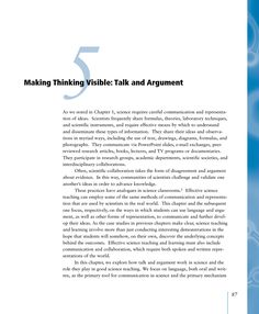 Read chapter 5 Making Thinking Visible: Talk and Argument: What types of instructional experiences help students learn science with understanding? Elementary Science, Science Classroom, Talk Moves, History Articles, High School History, Motivational Books, Kindergarten Fun, Research Paper, Quote Posters