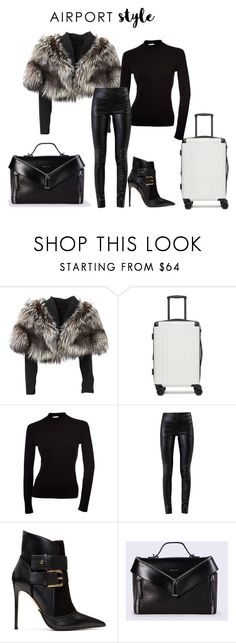 """""""Airport Style"""" by cherese-ealy ❤ liked on Polyvore featuring Lolita Lempicka, CalPak, Helmut Lang, Balmain, Diesel and airportstyle"""