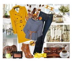 """""""Sunny coat for a rainy day"""" by shaneeeee ❤ liked on Polyvore featuring moda, Ralph Lauren, Pottery Barn, Stop Staring!, Hudson Jeans, Burberry, L.K.Bennett, NARS Cosmetics, WalG e Chanel"""