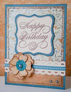 """Happy Birthday"" card. #CTMH"