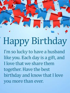 On Your Husbands Birthday Send This Sentimental And Sweet Card To L