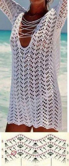 Crochet summer cardigan tutorial Ideas - - Informations About Crochet summer cardigan tutorial Ideas - - Pin You Pull Crochet, Mode Crochet, Crochet Cover Up, Crochet Lace, Doilies Crochet, Crochet Tunic Pattern, Crochet Stitches Patterns, Crochet Cardigan, Crochet Beach Dress