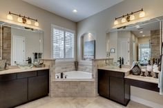 The Valencia II model master bathroom by Dream Finders Homes of The Palms at Nocatee