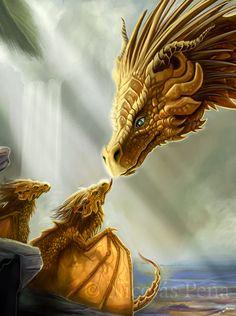 Golden Dragon, details by *Amisgaudi on deviantART