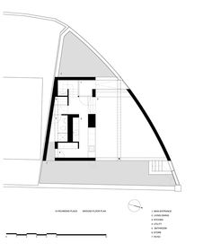 Image 16 of 22 from gallery of Richmond Place House / Boyd Cody Architects. Plan Drawing, Dublin City, Ground Floor Plan, The Gables, Main Entrance, Simple House, Small Spaces, House Plans, New Homes