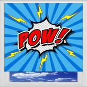 POW Comic Style Digitally Printed Photo Roller Blind