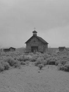 Fort Rock Church BW by Thundercatt99.deviantart.com on @deviantART